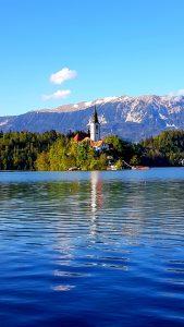 l'isolotto al centro del lago di Bled