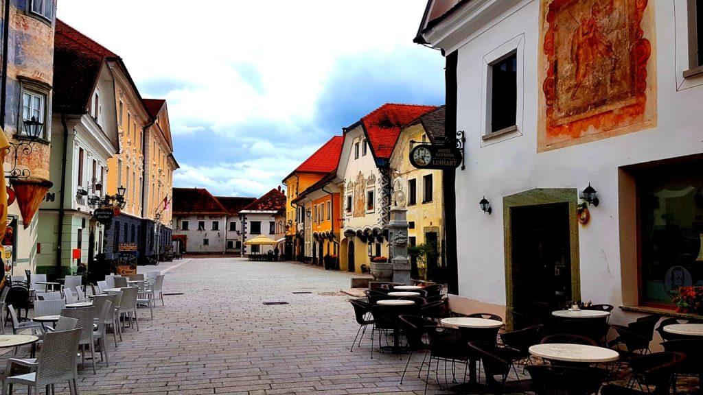 il centro storico di Radovljica Slovenia
