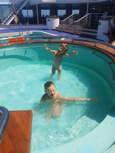 Piscina per bambini sul traghetto Grimaldi Lines