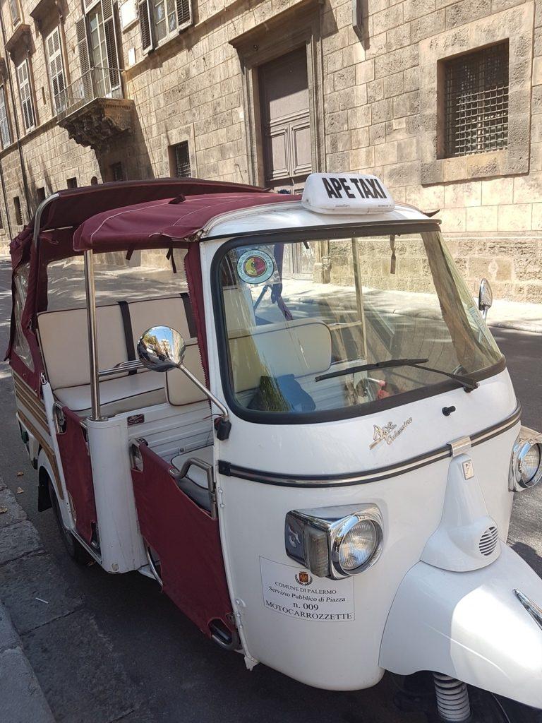 ape taxi tour Palermo