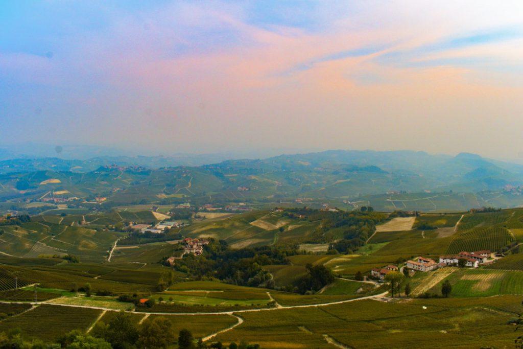 il panorama dal Belvedere di La Morra