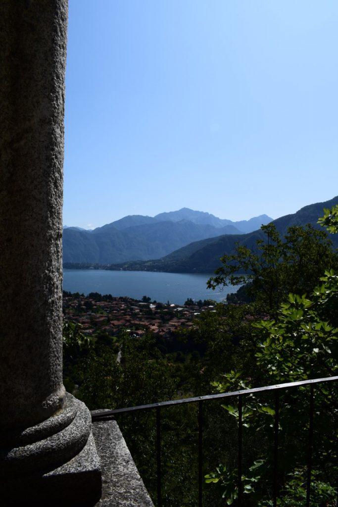 vista panoramica dalla cappella del Rosario di Ossuccio