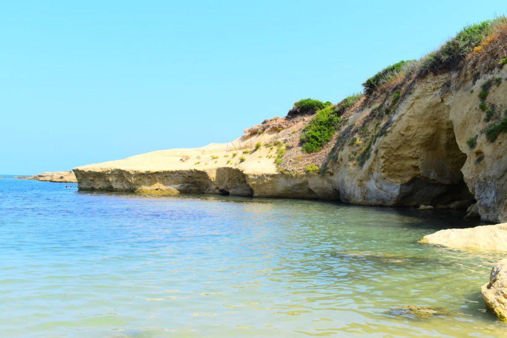 La spiaggia del Minareto nel Parco del Plemmirio