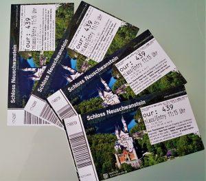 I biglietti per il Castello di Neuschwanstein