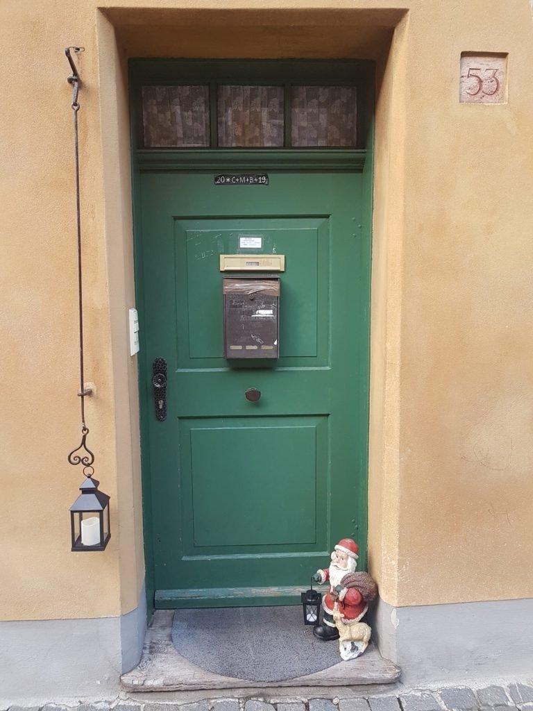 Il campanello di una casa di Fuggerei