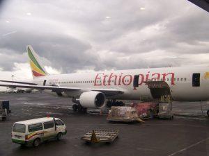 aereo Ethiopian Arilines a Zanzibar