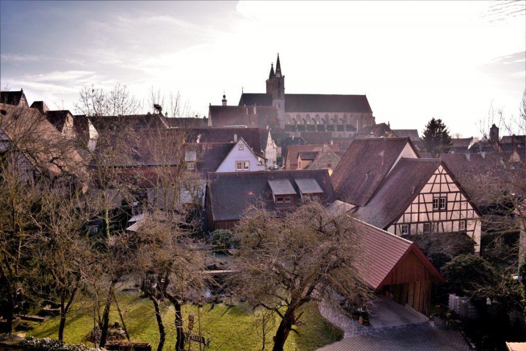 Il panorama dall'alto delle mura di Rothenburg ob der Tauber