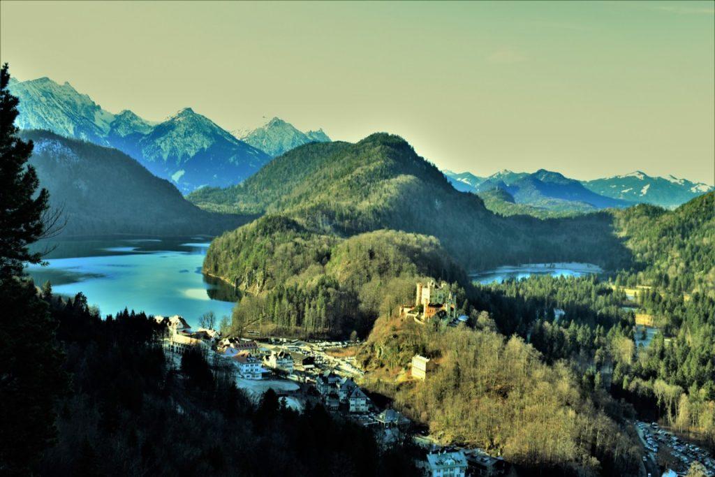 il panorama dal Castello di Neuschwanstein