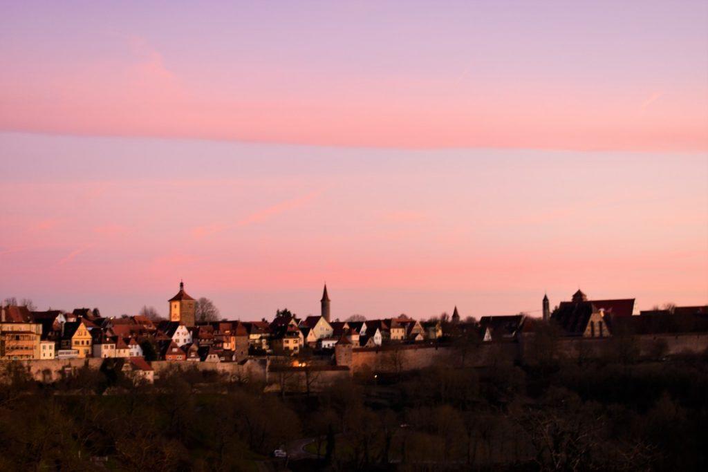 Il Panorama dal parco di Rothenburg ob der Tauber