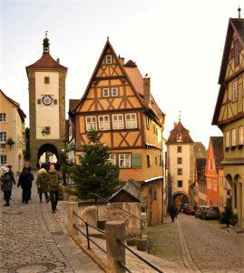 il famoso Plonlein a Rothenburg ob der Tauber