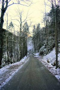 I paesaggi sulla Romantische Strasse in inverno