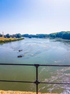 la vista del fiume Rodano dal Ponte Saint-Bénézett