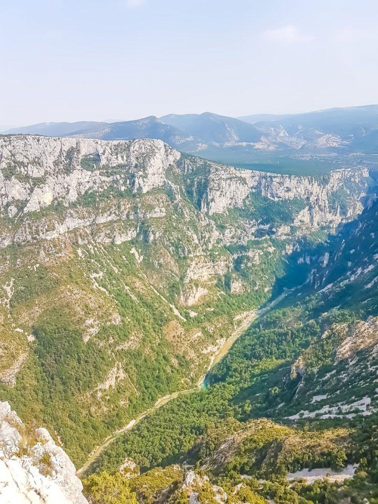 Le Gole del Verdon viste dalla Route des Cretes
