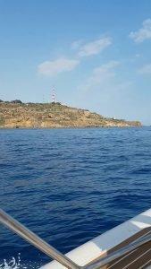 il panorama di Sciacca dalla barca