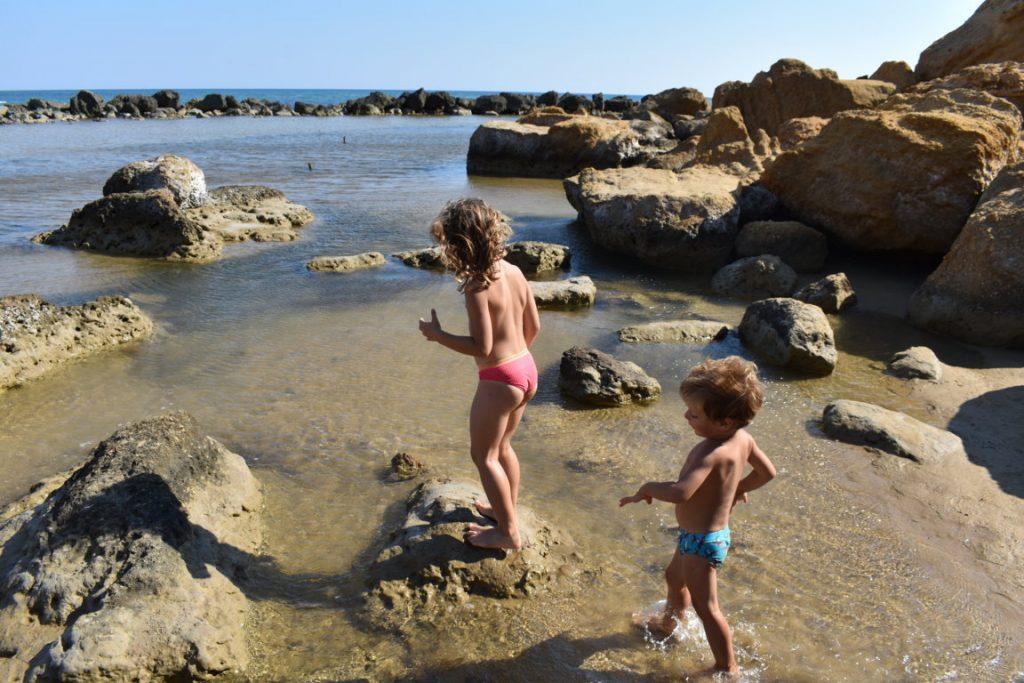 Spiaggia Capo Rossello con i bambini