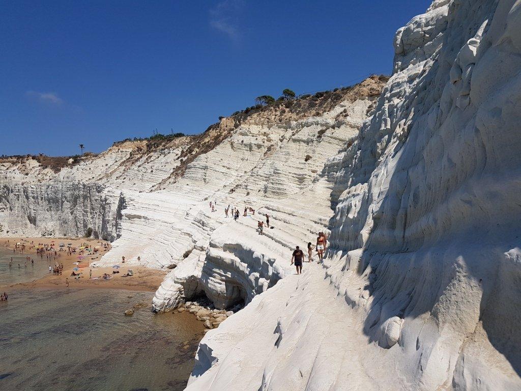 la scogliera bianca della Scala dei Turchi in Sicilia