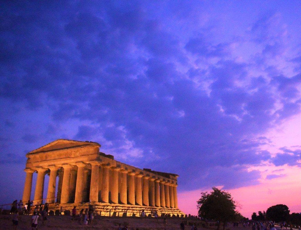 Tempio della Concordia al tramonto