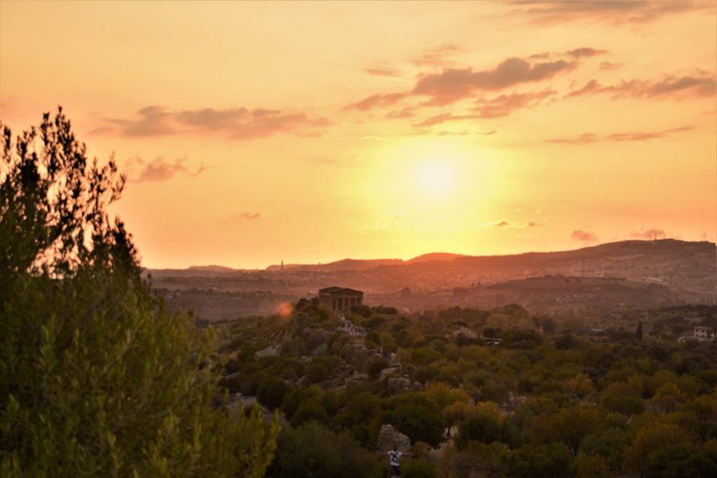 La Valle dei Templi al tramonto