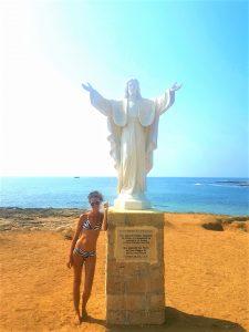 La statua di Cristo all'Isola delle Correnti