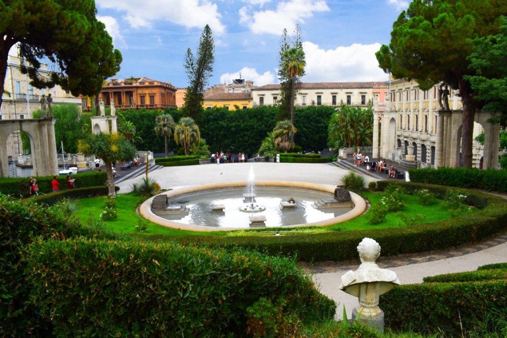 La fontana dei Giardini Bellini di Catania