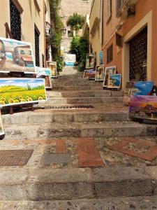 le viuzze del centro storico di Taormina