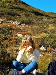 picnic con bambini in montagna