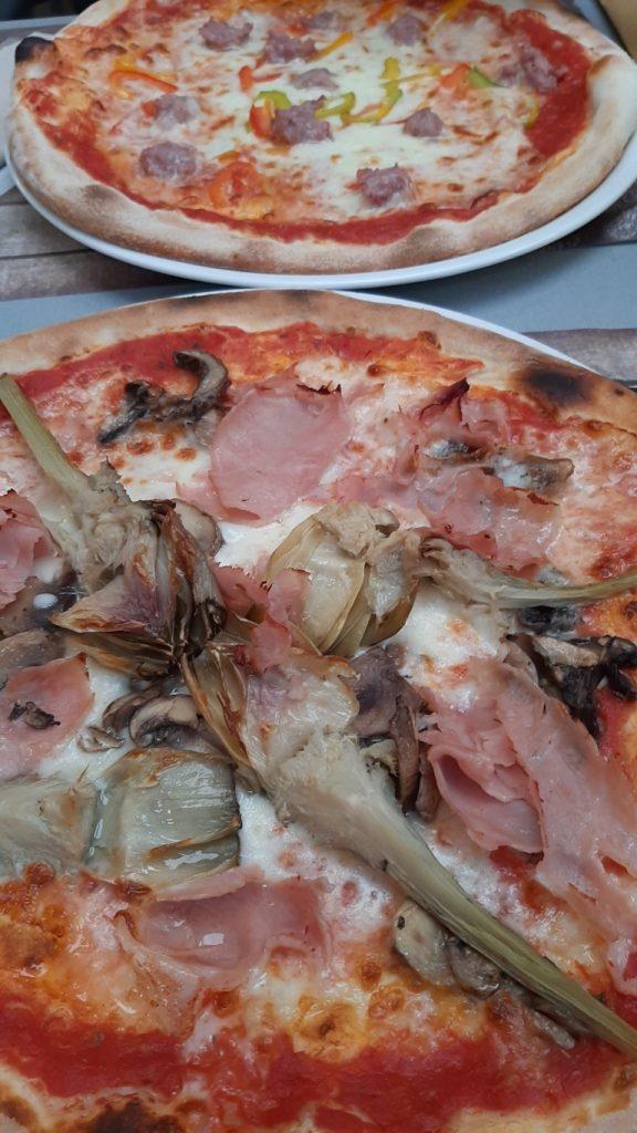 pizze della Pizzeria al Conte di Levico Terme