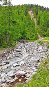 Un ponte il legno della Val Federia
