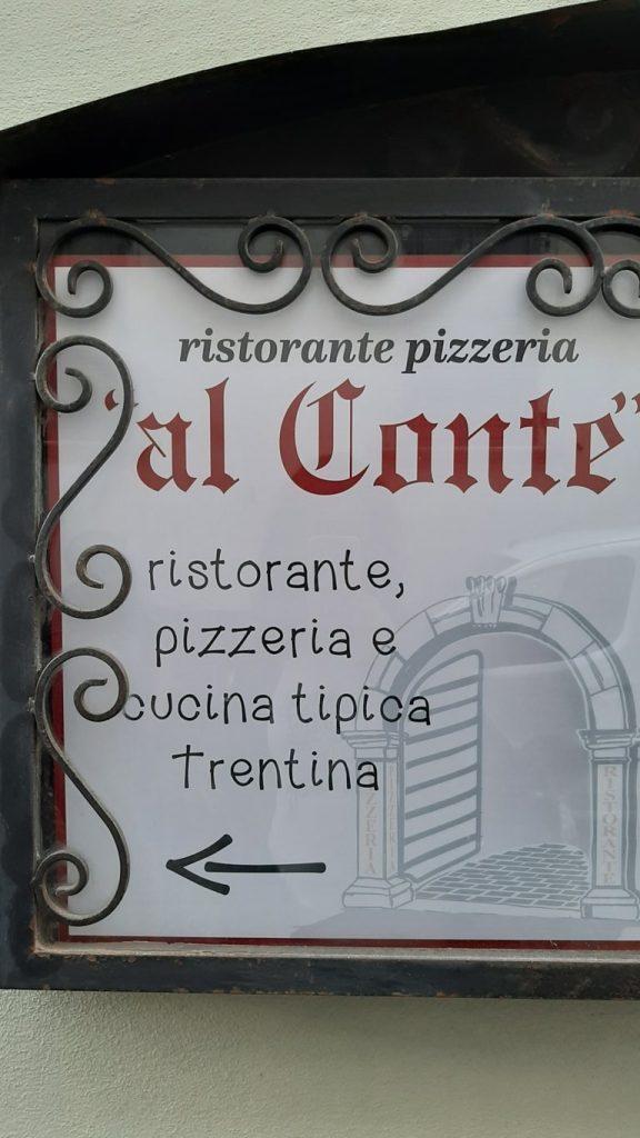La locandina del Ristorante Pizzeria al Conte di Levico Terme
