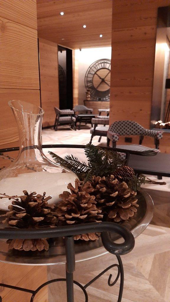 dettagli della sala dell'Hotel Astoria di Livigno