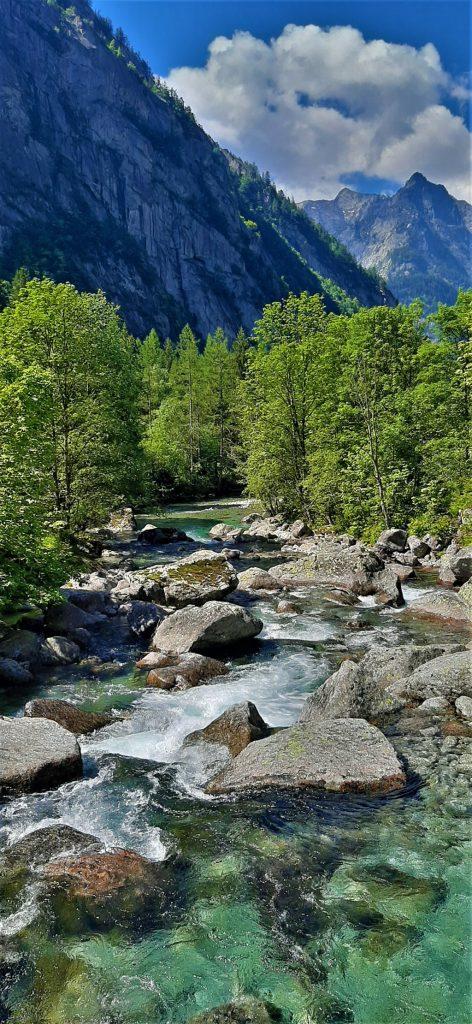 il torrente Mello in Valtellina