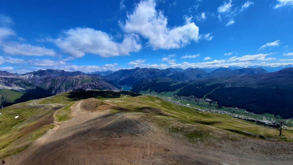 Il panorama dalla montagna di Carosello 3000 Livigno