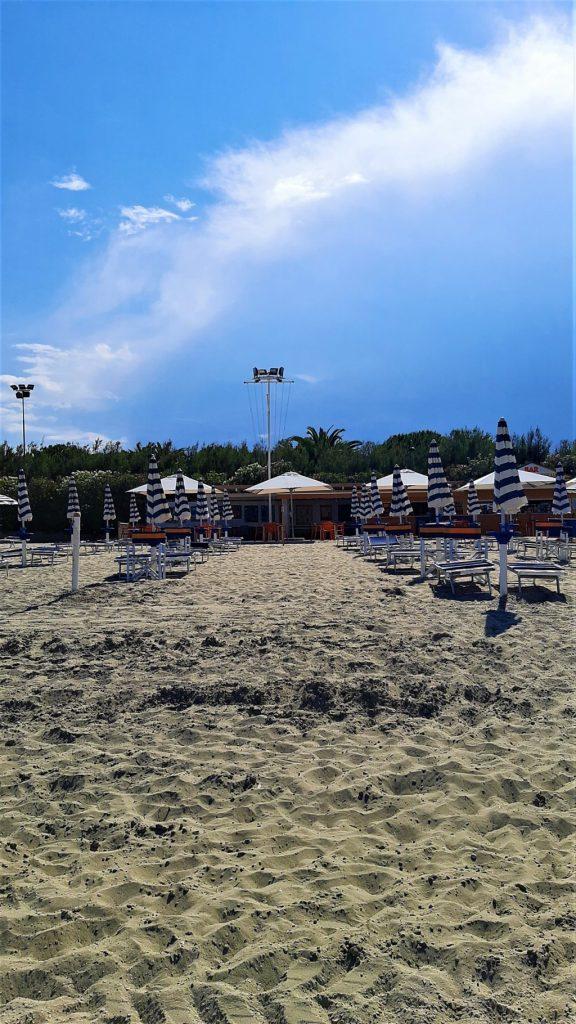 Una spiaggia organizzata di Tortoreto Lido in Abruzzo