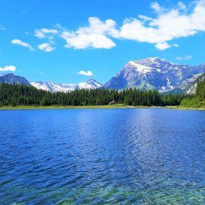 Il Lago Palù e le montagne della Valmalenco