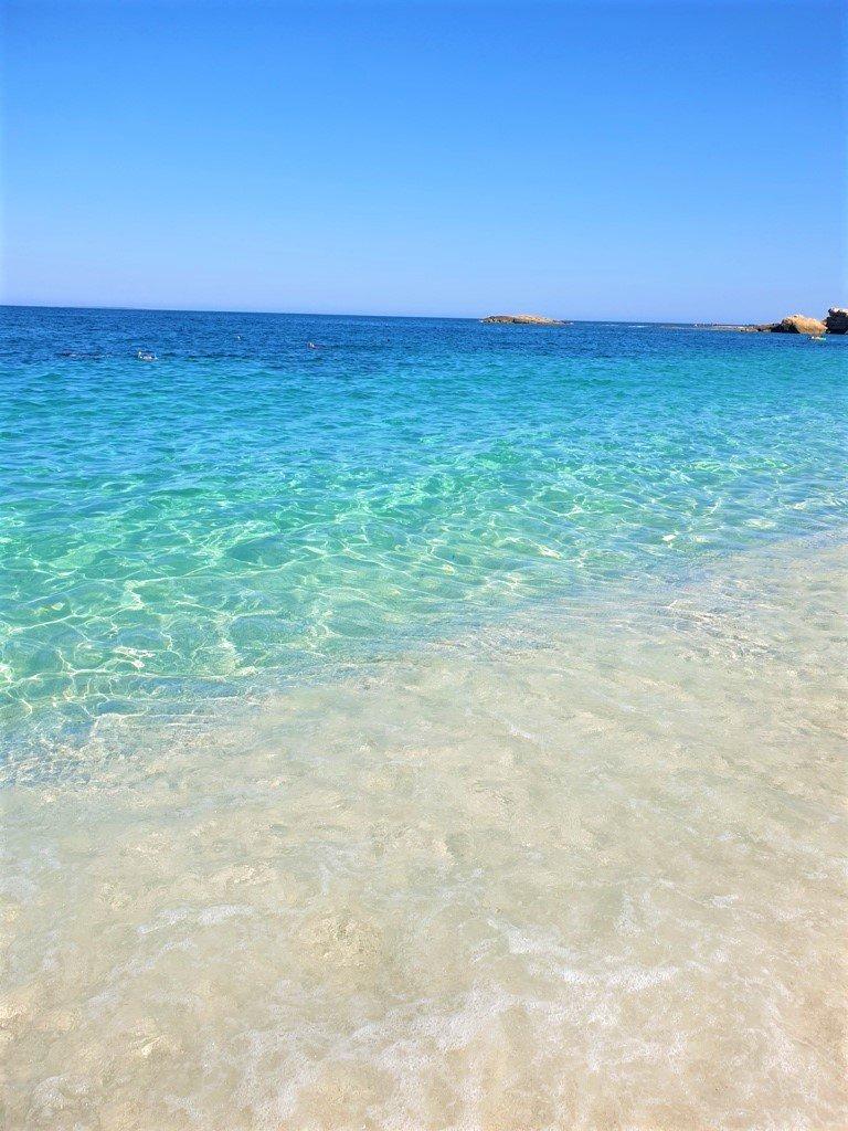 Il mare limpido di Is Arutas in Sardegna