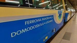 la carrozza del treno panoramico Vigezzina-Centovalli