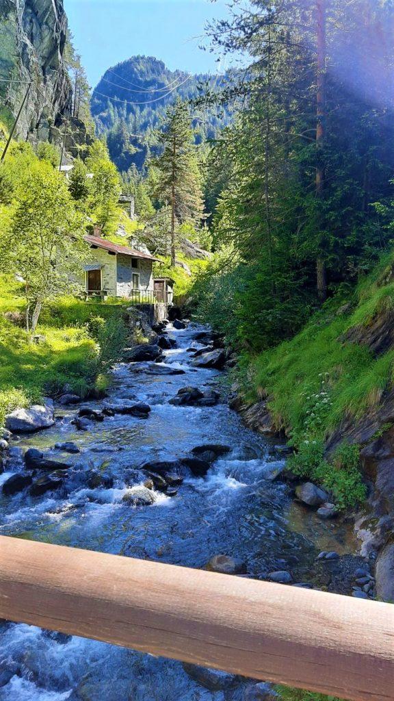 Il torrente Cormor in Valmalenco