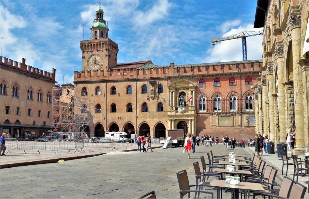 Palazzo D'Accursio in Piazza Maggiore a Bologna