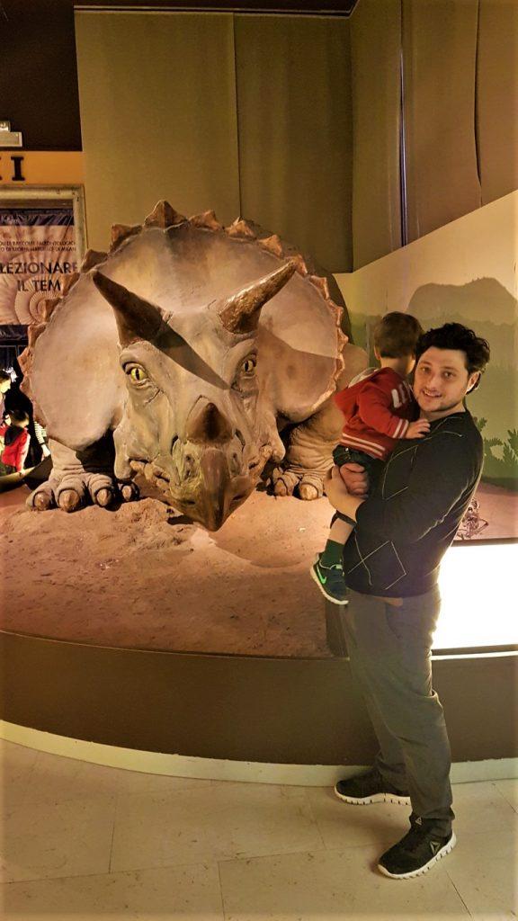 riproduzione Triceratopo al museo di Milano
