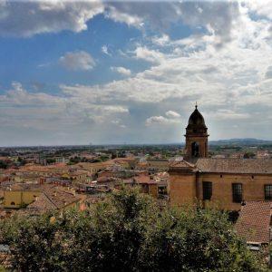 Santarcangelo di Romagna visto dall'alto