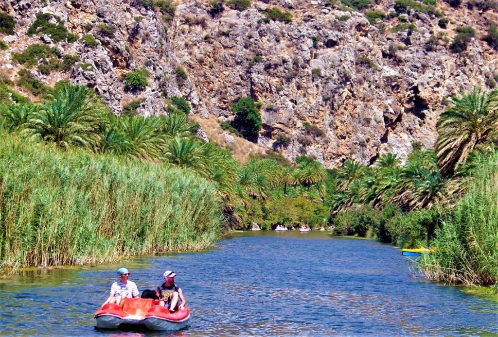 Giro in pedalò sul fiume Megas Potamos a Creta