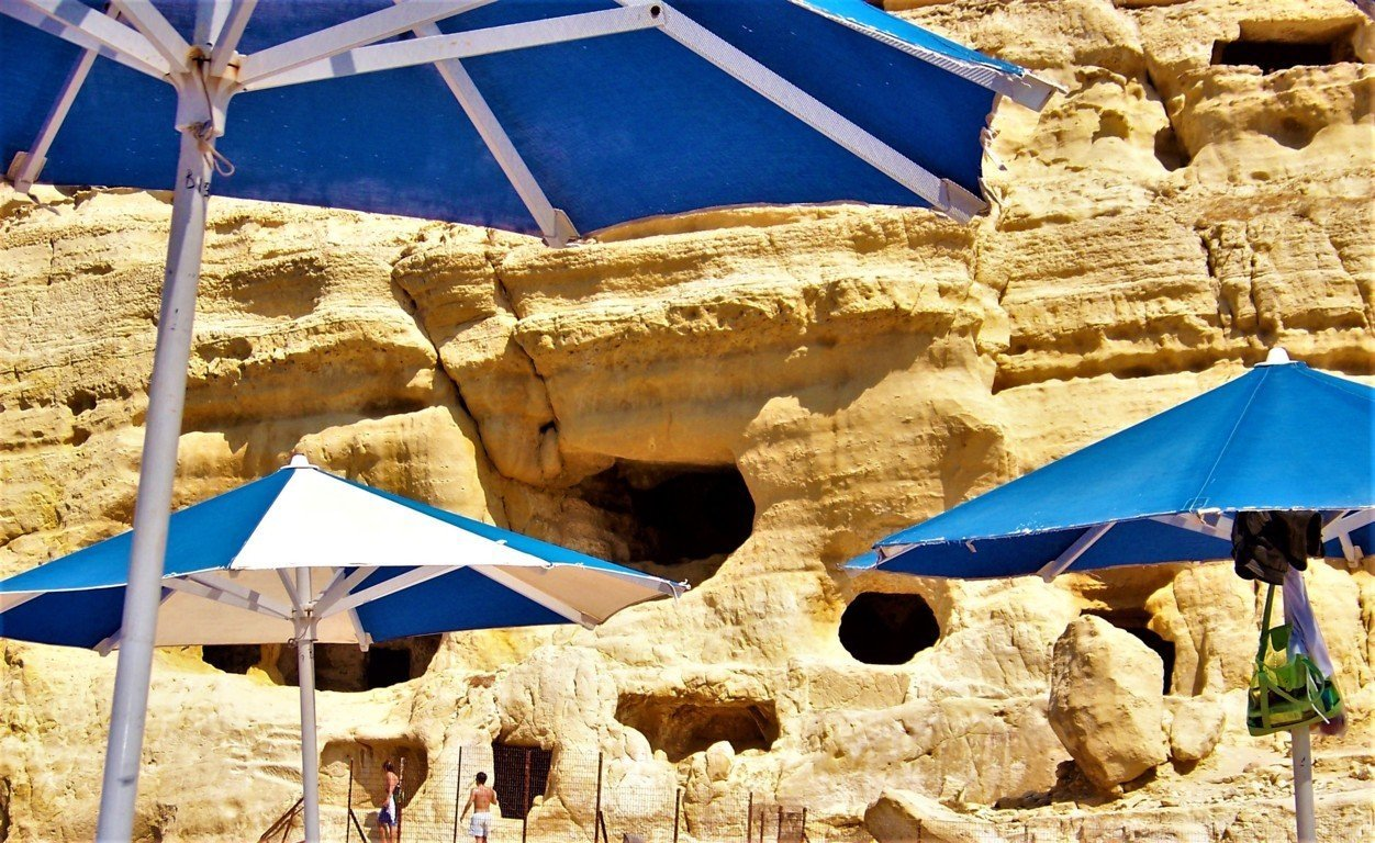 The hippy caves of Matala Greece