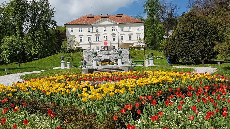Castello Tivolsky al Parco Tivoli di Lubiana