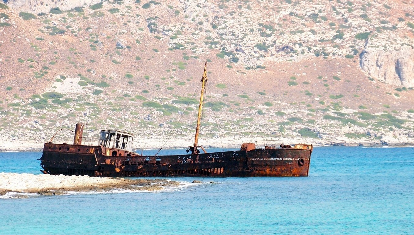Il relitto del naufragio di Gramvousa