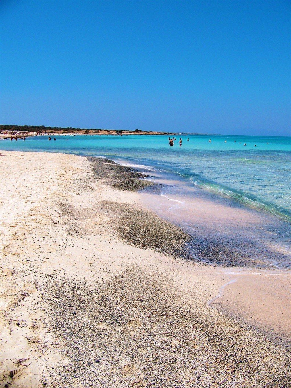 Sand area of Chrissi Island Crete