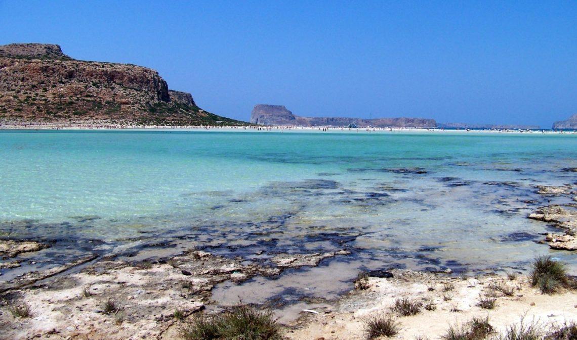 La spiaggia di Balos a Creta