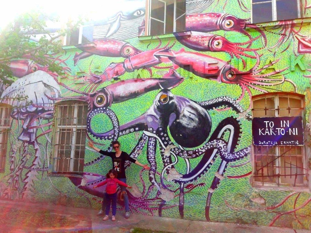 street art quartiere Metelkova in Slovenia