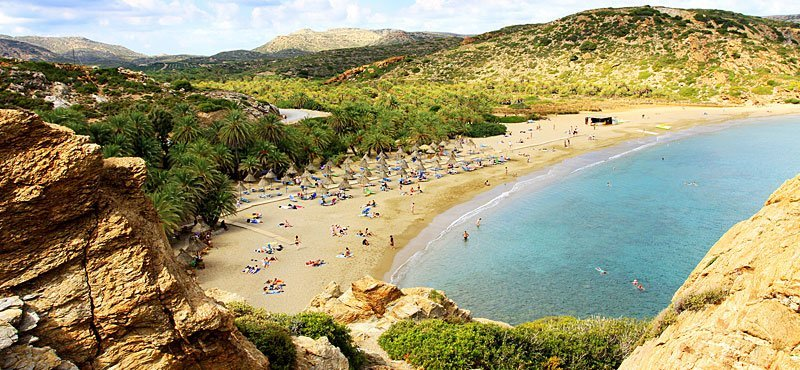 La spiaggia di Vai a Creta Est