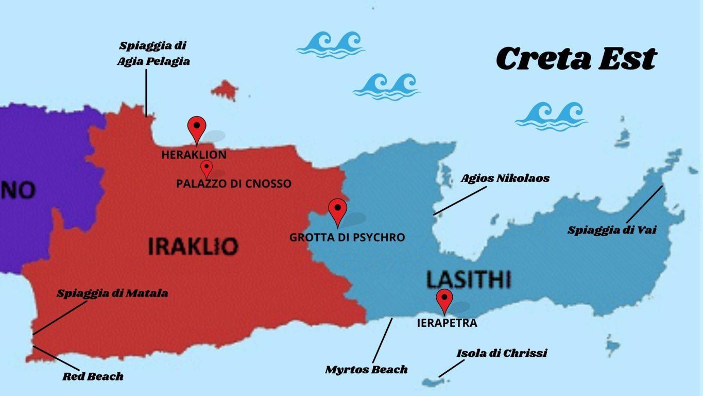 Cartina Spiagge Sardegna Nord.Creta Est Cosa Vedere Tra Spiagge Piu Belle E Siti Archeologici Con Mappa