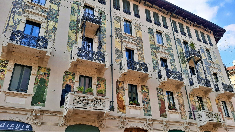La facciata di Casa Galimberti